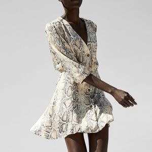 Zara snakeskin dress